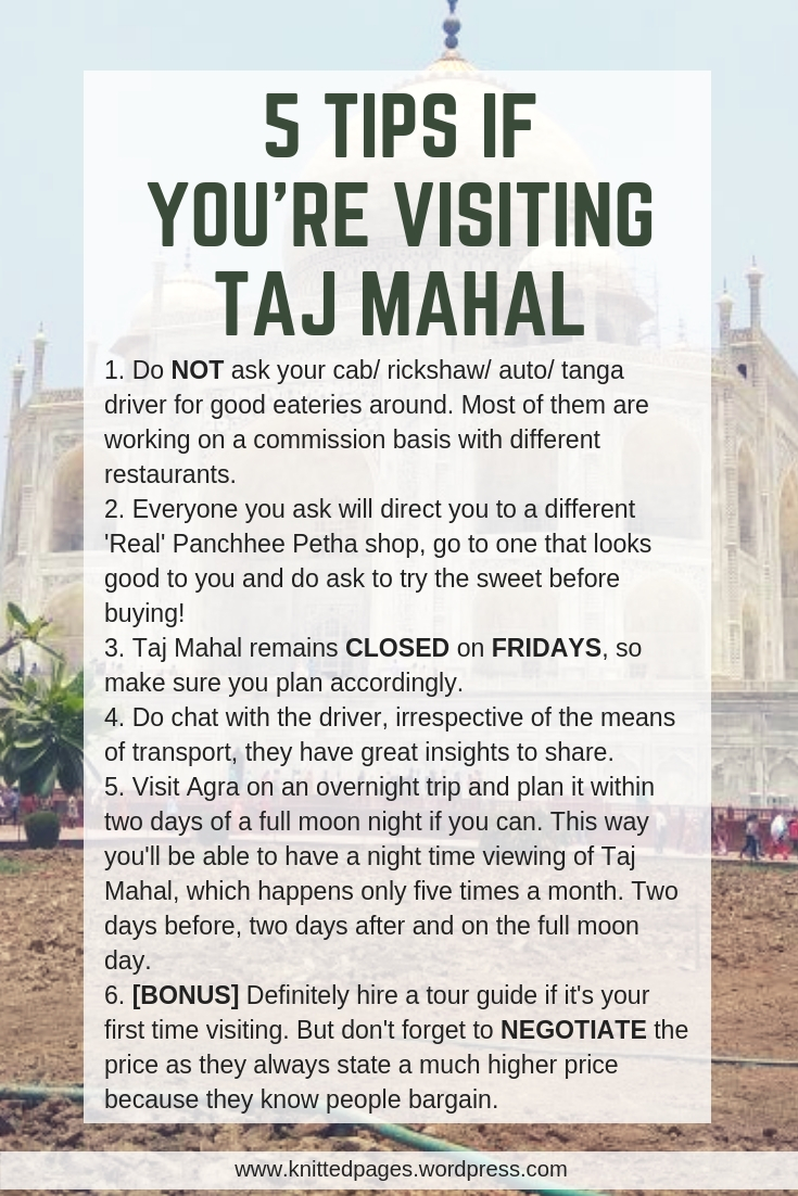 5 tips if you're visitng taj mahal